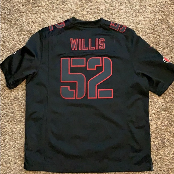 size 40 0ef4f c111f On filed stitched Patrick Willis 49ers jersey